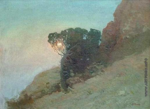 Труш И. И. Сосна над крымском берегу