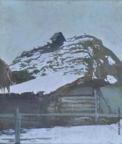 Труш И. И. Хата зимой