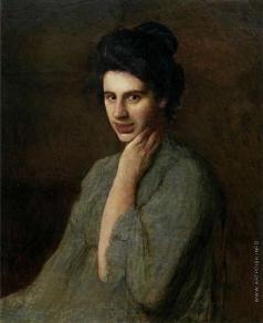 Труш И. И. Портрет А. М. Труш-Драгомановой, жены художника