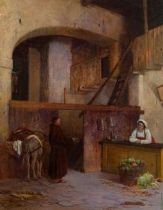 Риццони А. А. Монах, собирающий милостыню