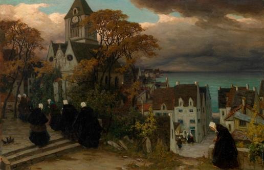 Зарубин В. И. Бретонские женщины на пути на мессу