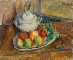 Кикоин М. Натюрморт с фруктами и горшком