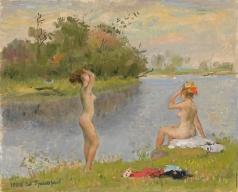 Григорьев С. А. Девушки перед озером