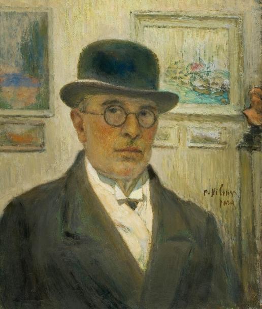Нилус П. А. Автопортрет в котелке