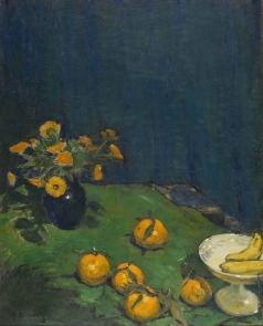 Нилус П. А. Синий натюрморт с апельсинами
