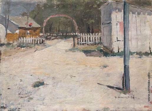 Нилус П. А. Во дворе