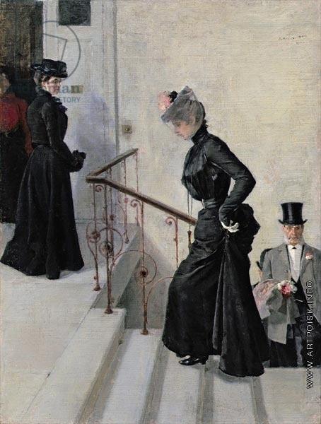 Нилус П. А. На лестнице