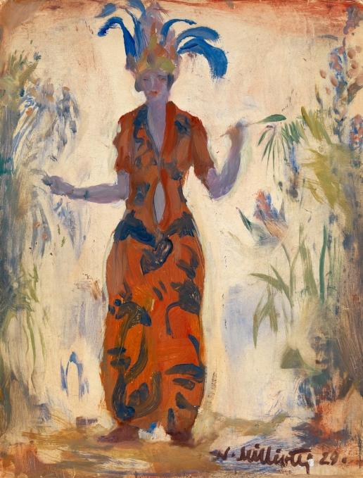 Милиоти Н. Д. Женщина в восточном наряде