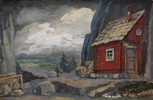 Ходасевич В. М. Эскиз декорации к постановке «Ветер с юга»