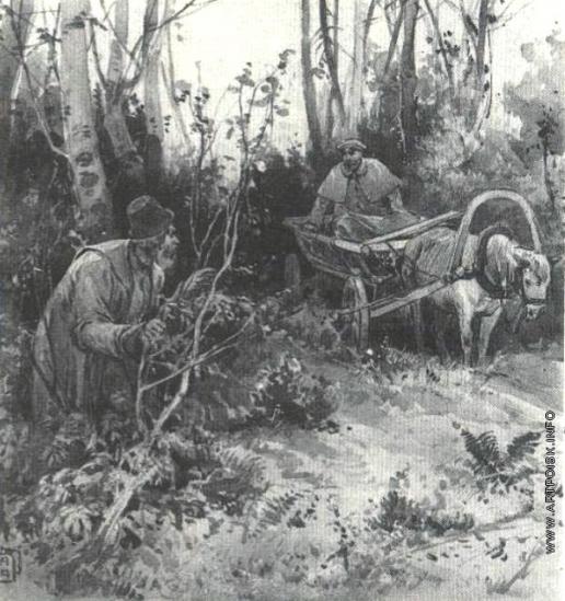 Апсит А. П. Иллюстрация к рассказу А.П. Чехова «Пересолил»