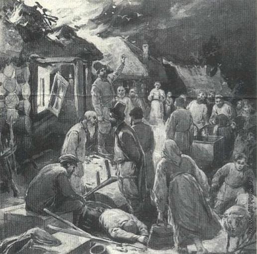 Апсит А. П. Иллюстрация к рассказу А.П. Чехова «Мужики»