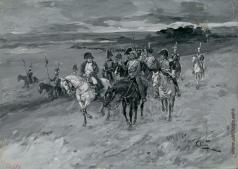 Апсит А. П. Лаврушка и Наполеон. Иллюстрация к роману Л.Н. Толстого «Война и мир»