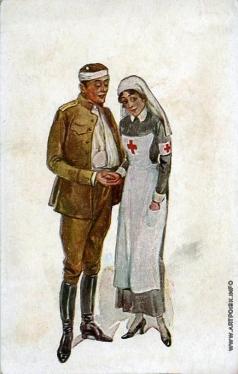 Апсит А. П. Раненый и медсестра
