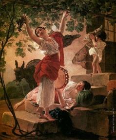Брюллов К. П. Девушка, собирающая виноград в окрестностях Неаполя