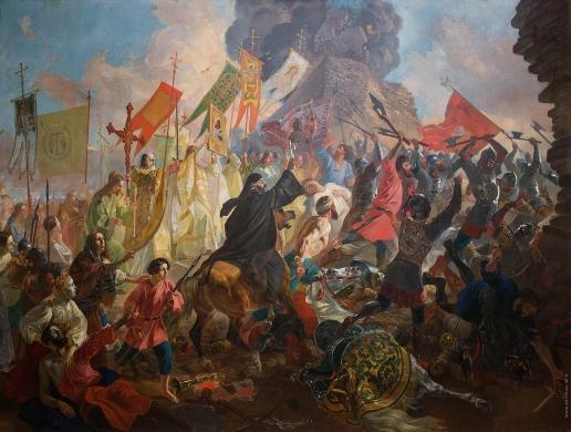 Брюллов К. П. Осада Пскова польским королём Стефаном Баторием в 1581 году