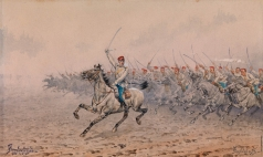 Прянишников И. П. Атака кавалерии