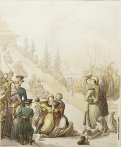 Опиц Г. Русские катания с ледяных гор