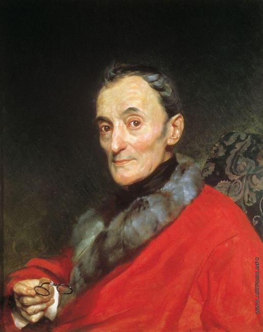 Брюллов К. П. Портрет археолога Микеланджело Ланчи