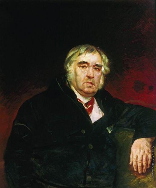 Брюллов К. П. Портрет баснописца И.А.Крылова