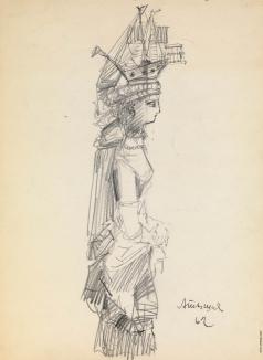 Тышлер А. Г. Женщина в головном уборе