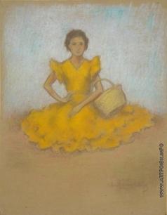 Фрешкоп Л. И. Молодая женщина в желтом платье