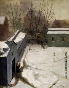 Фрешкоп Л. И. Деревня в снегу