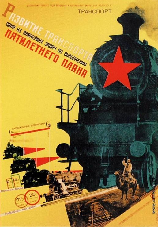 Клуцис Г. Г. Плакат «Развитие транспорта — одна из важнейших задач...»