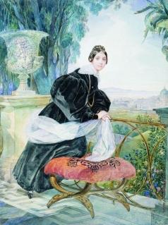 Брюллов К. П. Портрет кн. Е.П.Салтыковой. 1833-