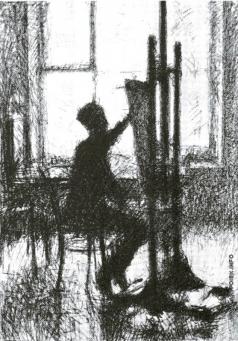 Верейский Г. С. Молодой художник. (О.Г.Верейский)