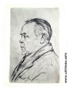 Верейский Г. С. Портрет художника А.Рылова
