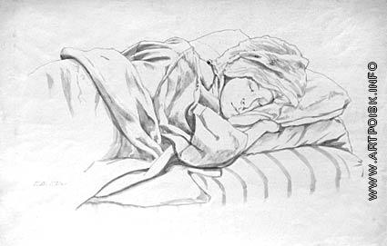 Верейский Г. С. Спящая. (Е.Н. Карева-Верейская)