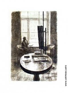 Верейский Г. С. В мастерской днем, с фигурой у окна