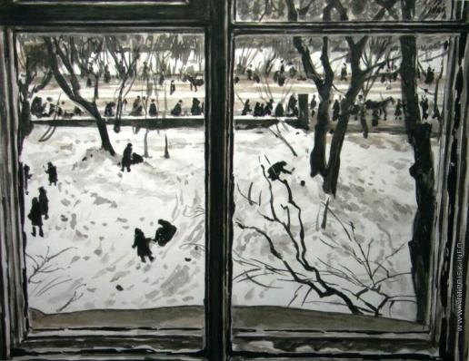 Верейский Г. С. Зима. Вид из окна