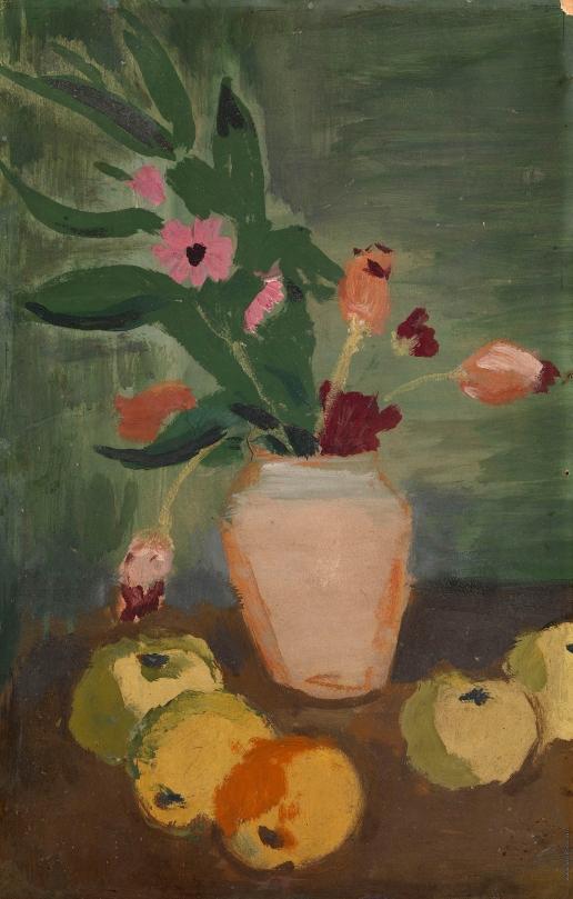 Русаков А. И. Натюрморт с цветами и яблоками