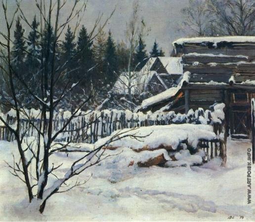 Серов В. А. Снежный пейзаж