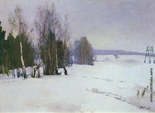Серов В. А. Зима