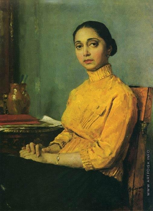 Серов В. А. Портрет женщины в желтом