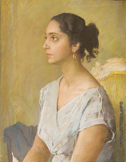 Серов В. А. Портрет Генриетты Григорьевны Серовой, жены художника