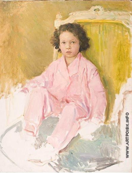 Серов В. А. Портрет дочери в розовом