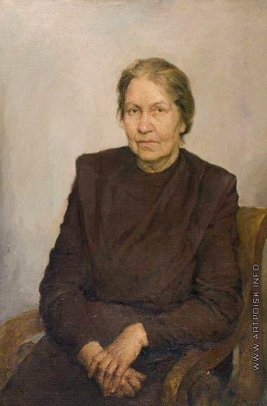 Серов В. А. Портрет Надежды Ильиничны Серовой, матери художника, рожденной Успенской