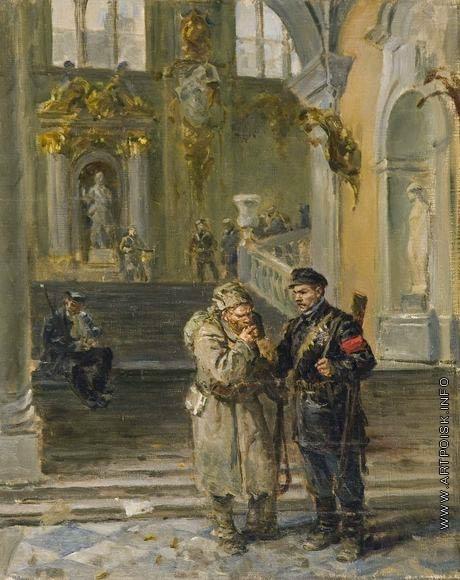 Серов В. А. Эскиз к картине «Зимний взят»