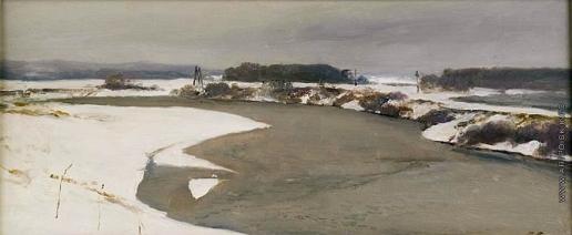 Серов В. А. Москва-река. Первый снег