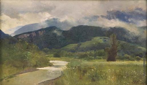Серов В. А. Речка в горах. (Кавказ)