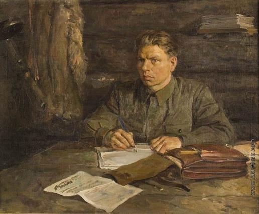 Серов В. А. Портрет редактора партизанской газеты М.Г. Абрамова
