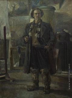 Серов В. А. Автопортрет периода блокады Ленинграда