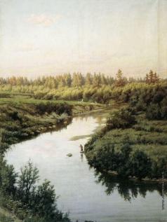 Брюллов П. А. Пейзаж с рекой