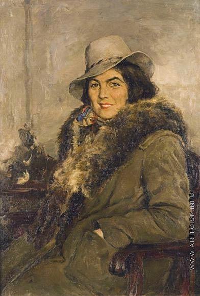 Серов В. А. Портрет артистки К.А. Луговой