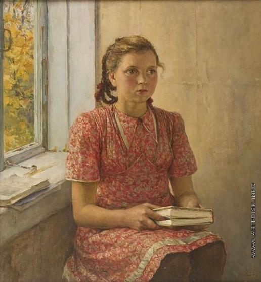 Серов В. А. Девочка с книгой