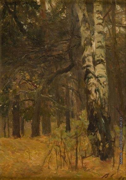 Серов В. А. Уголок осеннего леса