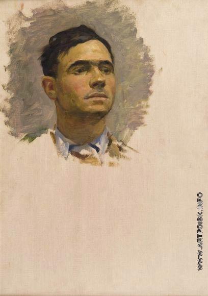 Серов В. А. Этюд мужской головы к картине «Вставай, поднимайся!»